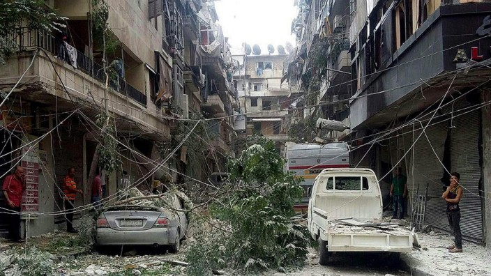 Rockets hit residential neighborhoods in Aleppo