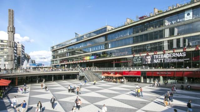 Kulturzentrum Kulturhuset Sergels Torg Norrmalm Stockholm Stockholms län Schweden Europa iblrb