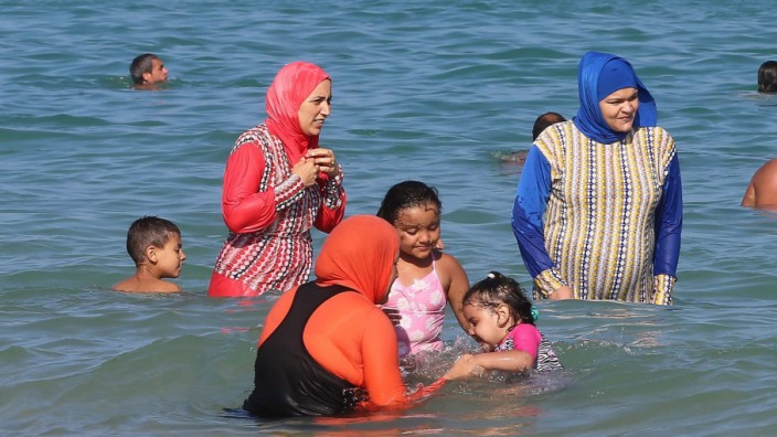 Burkini beachwear in Tunisia