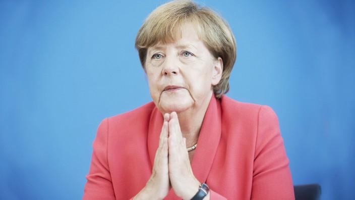 Angela Merkel, Bundespressekonferenz DEU, Deutschland, Germany, Berlin, 31.08.2015 Angela Merkel, Bu
