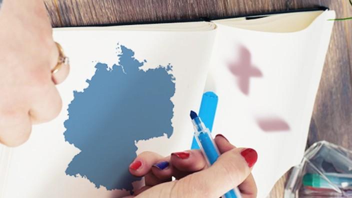 Studie: Collage: Pro und Kontra Deutschland