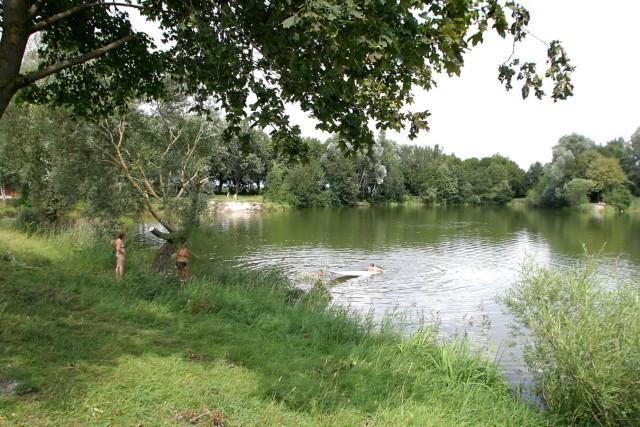 Der Heiglweiher bei Haimhausen, ein See im Landkreis Dachau
