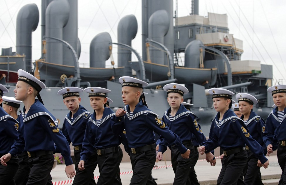 Cadets of the Russian Nakhimov Naval Academy