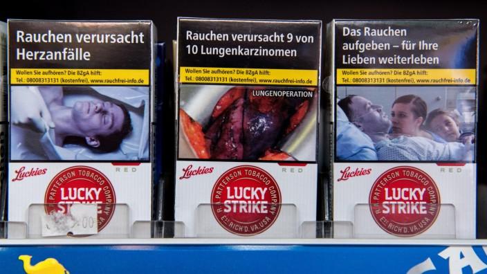Schockfotos auf Zigarettenschachteln