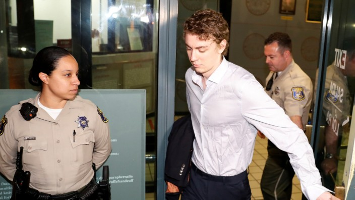 Brock Turner, the former Stanford swimmer convicted of sexually assaulting an unconscious woman, leaves the Santa Clara County Jail in San Jose, California