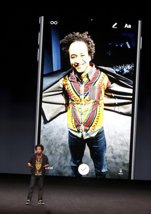 Ian Spalter discusses the iPhone7 during an Apple media event in San Francisco