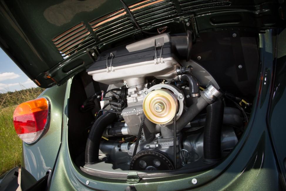Der Motor des Memminger VW Käfer 1303 Cabrio