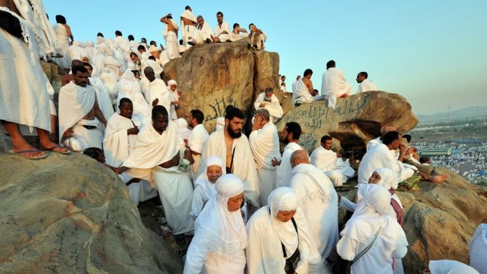 Pilger am Berg Arafat