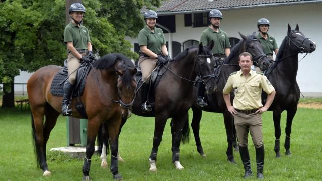 Polizeipferde: Die Pferde der Reiterstaffel müssen in allen Situationen ruhig bleiben.