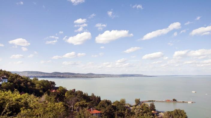 View of Lake Balaton from Tihany Hungary mit_2002_05199