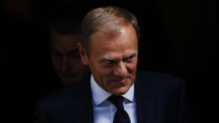 EU-Ratspräsident: Donald Tusk sieht die Europäische Union im Kern herausgefordert.