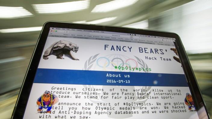 """Cyber-Attacke imSport: Die Gruppe """"Fancy Bears""""."""