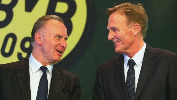 DFB-Pokalfinale 2016: Karl-Heinz Rummenigge und Hans-Joachim Watzke