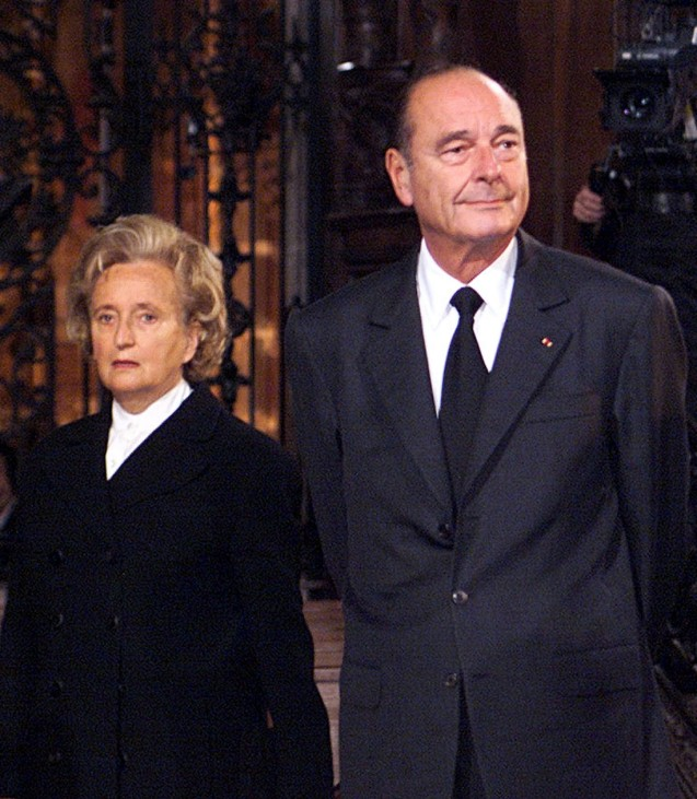 FRENCH PRESIDENT JACQUES CHIRAC AND HIS WIFE BERNADETTE ATTEND MASS FOR EXPLOSION VICTIMS IN TOULOUSE