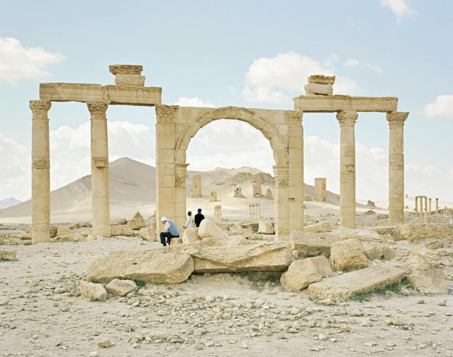Kolonnade und Grabtürme, Palmyra, Tadmor, Palmyra, Syrien, 2011