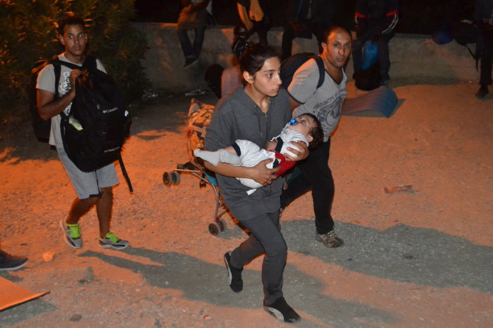 Unrest in the refugees camp of Moria on Lesvos island
