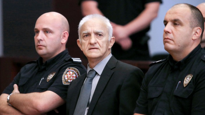 Former Serb paramilitary commander Vasiljkovic, known as Captain Dragan and accused of torturing and killing soldiers and civilians during the 1991-95 independence war, goes on trial in court in Split