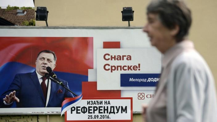 Balkan: Am Anfang seiner Karriere galt Präsident Dodik noch als verlässlicher Partner der EU, inzwischen gefällt er sich als serbischer Nationalist.