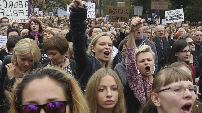 Protest gegen Abtreibungsverbot in Polen
