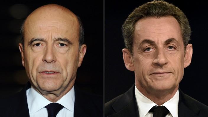 Alain Juppé und Nicolas Sarkozy