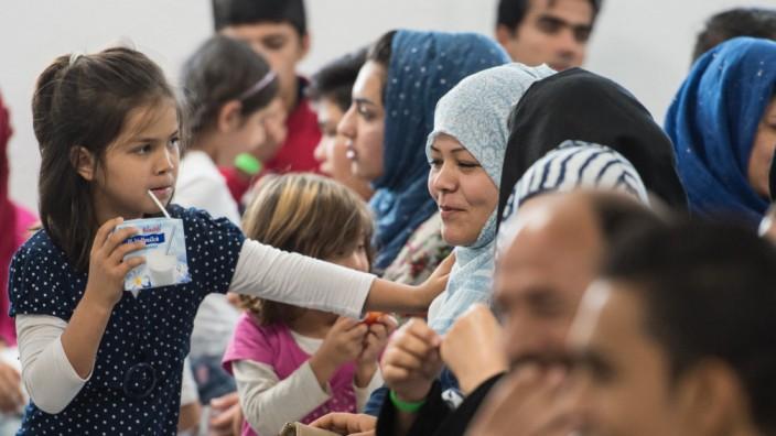 Asylbewerber im 'Ankunftszentrum'
