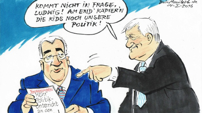 Dieter Hanitzsch, Karikatur für MRB-Forum 4.10.2016