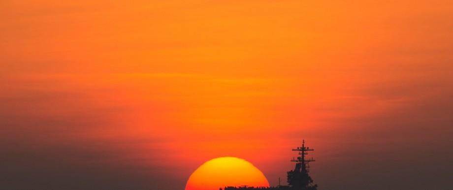 USA und Syrien: Die USA - nichts mehr zu sagen im Nahen Osten. (Im Bild der Flugzeugträger USS George H.W. Bush im Golf von Aden)