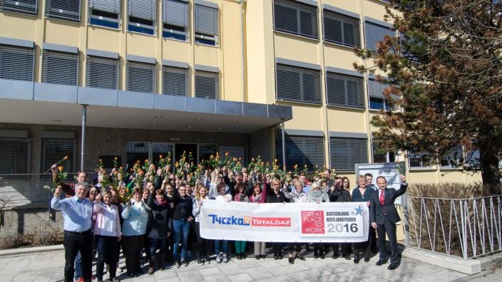 Gesunde Mitarbeiter: Im März gab es die Auszeichnung: Tyczka Totalgaz gehört zu den besten 100 Arbeitgebern Deutschlands.