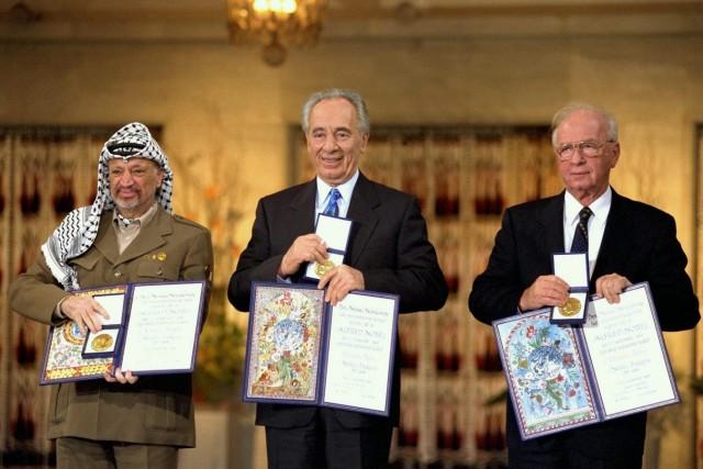 Friedensnobelpreis - Arafat, Peres und Rabin