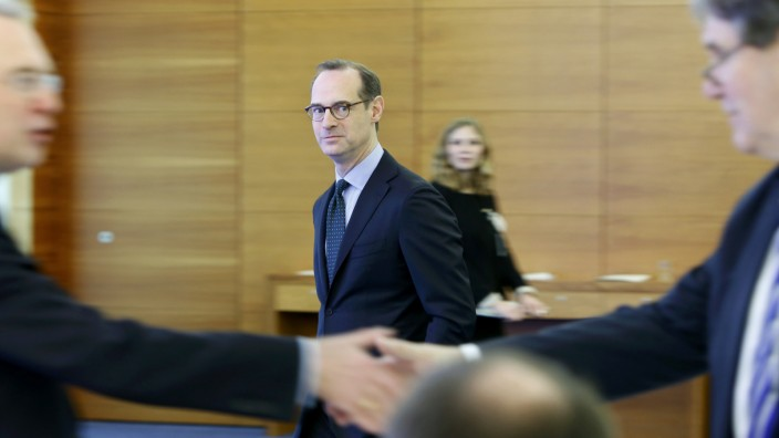 Baete, Chief Executive of Europe's biggest insurer Allianz SE, arrives for company's annual news conference in Munich