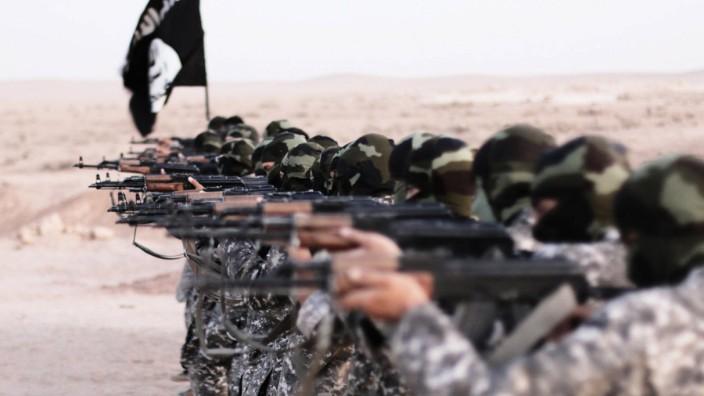 Nov 19 2015 Raqqa Syria Islamic State of Iraq and the Levant propaganda photo showing masked