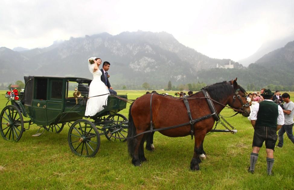 Chinesische Brautpaare im Allgäu