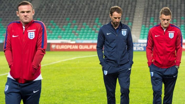 WM-Qualifikation: England-Coach Gareth Southgate und Wayne Rooney - ob sie noch Freunde werden?