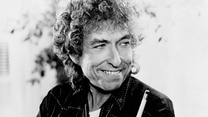 1980s photo of American folk singer Bob Dylan Born Albert Zimmermann on May 24th 1941 Aufnahmed