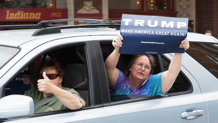 GOP Presidential Candidate Donald Trump Holds Rally In Terre Haute, Indiana