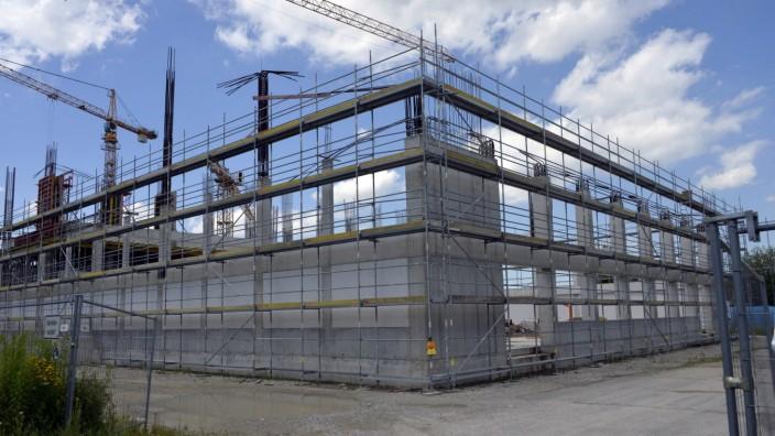 Baustelle für Griechische Schule in München, 2016