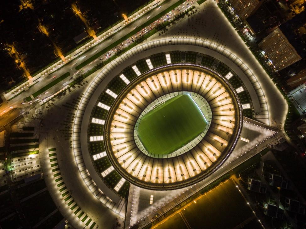 KRASNODAR RUSSIA SEPTEMBER 30 2016 A view of the Krasnodar Stadium The arena has a capacity of