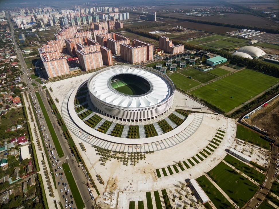 KRASNODAR RUSSIA OCTOBER 1 2016 A view of the Krasnodar Stadium The arena has a capacity of 33