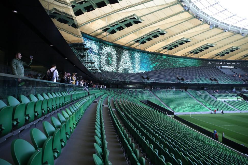 KRASNODAR RUSSIA OCTOBER 8 2016 The Krasnodar Stadium The arena is to open with a friendly foo