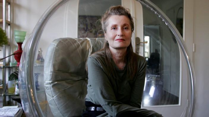 Austrian writer and Nobel Literature Laureate Jelinek listens in her house in Vienna