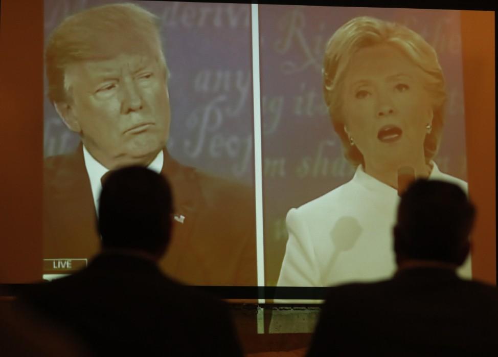 Donald Trump, Hillary Clinton, debate watchers