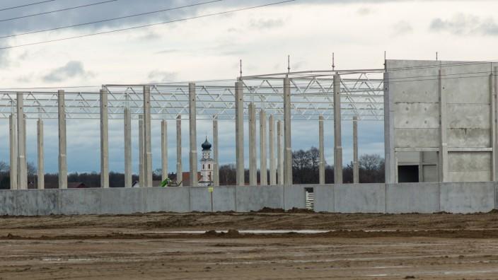 Baustelle an der A92