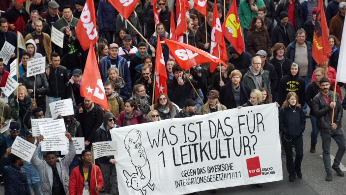 Demonstration gegen Integrationsgesetz