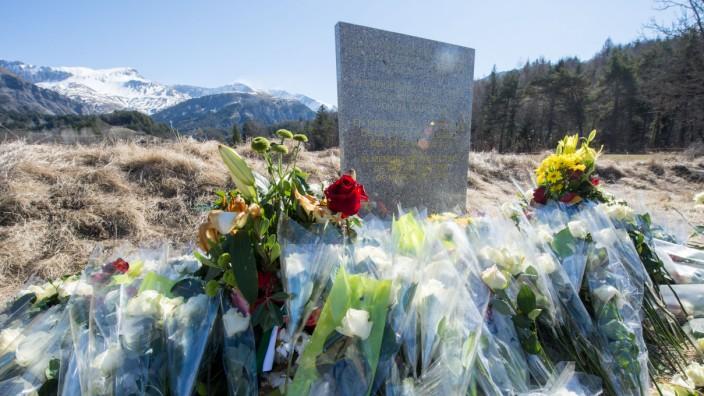 Gedenkstele Germanwings Absturz