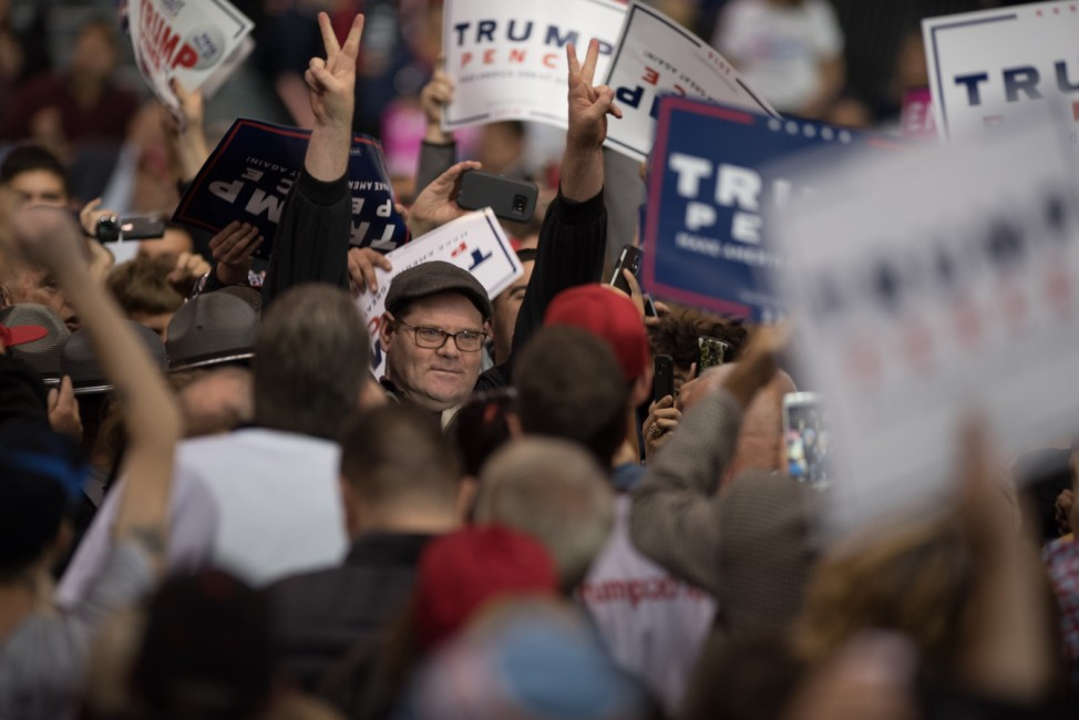 Republican Presidential Nominee Donald Trump Campaigns In Cleveland, Ohio
