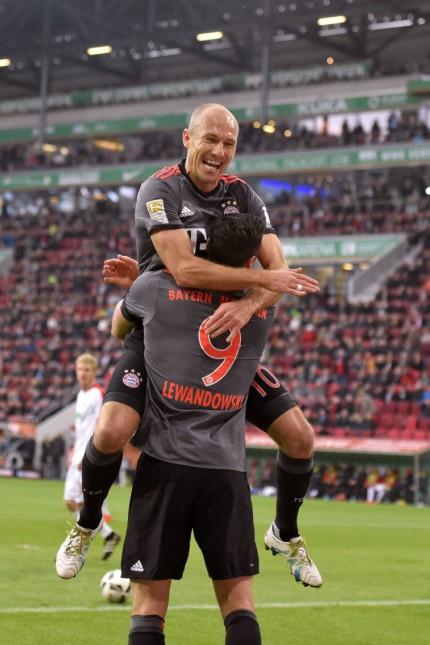 29 10 2016 Fussball 1 Bundesliga 2016 2017 9 Spieltag FC Augsburg FC Bayern München in der WWK
