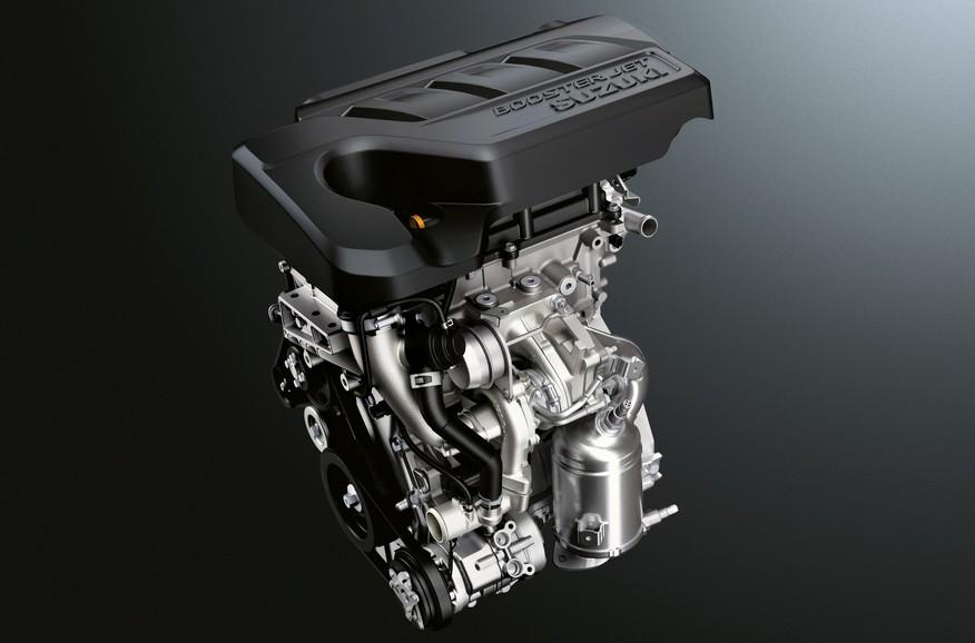 Der Dreizylinder-Turbobenzinmotor des neuen Suzuki SX4 S-Cross.