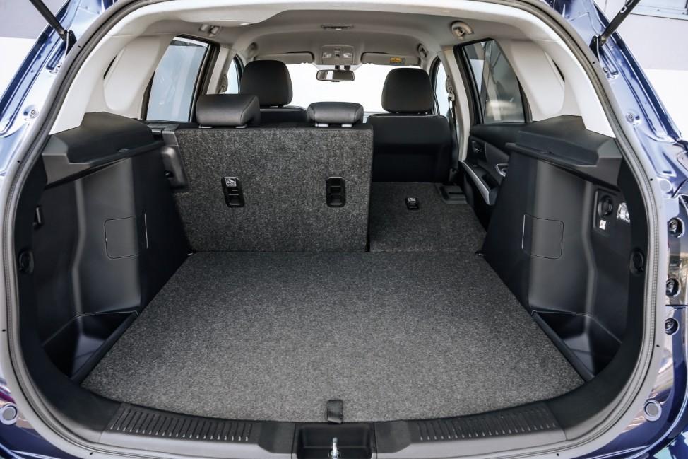 Der Kofferraum des neuen Suzuki SX4 S-Cross.