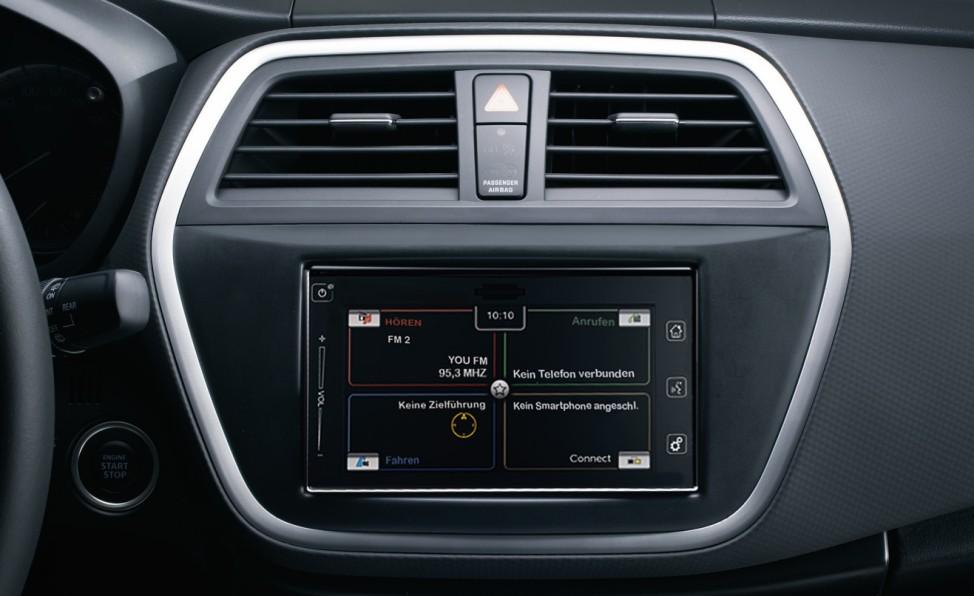 Der Infotainment-Bildschirm des neuen Suzuki SX4 S-Cross.