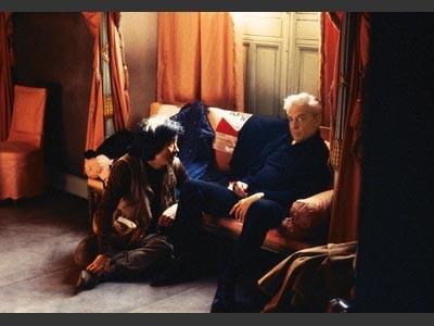Herbert von Karajan und sein früherer Meisterschüler Seiji Ozawa